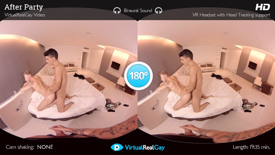 VirtualRealGay's After Party: a voyeur threesome for VR!
