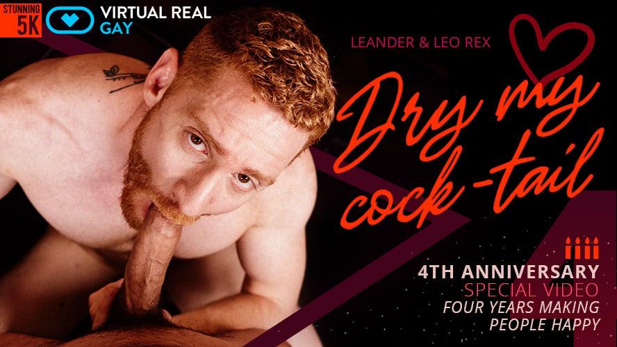 Redhead gay VR sex